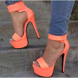 Graceful Ankle Strap Platform Sandals