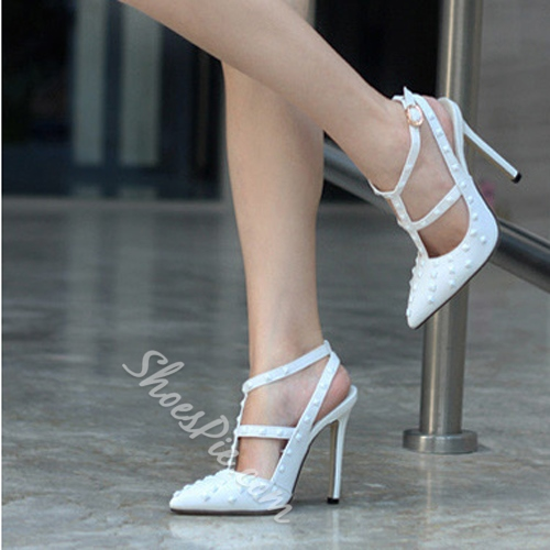 Sparkling Contrast Colour Pointed Toe Heels