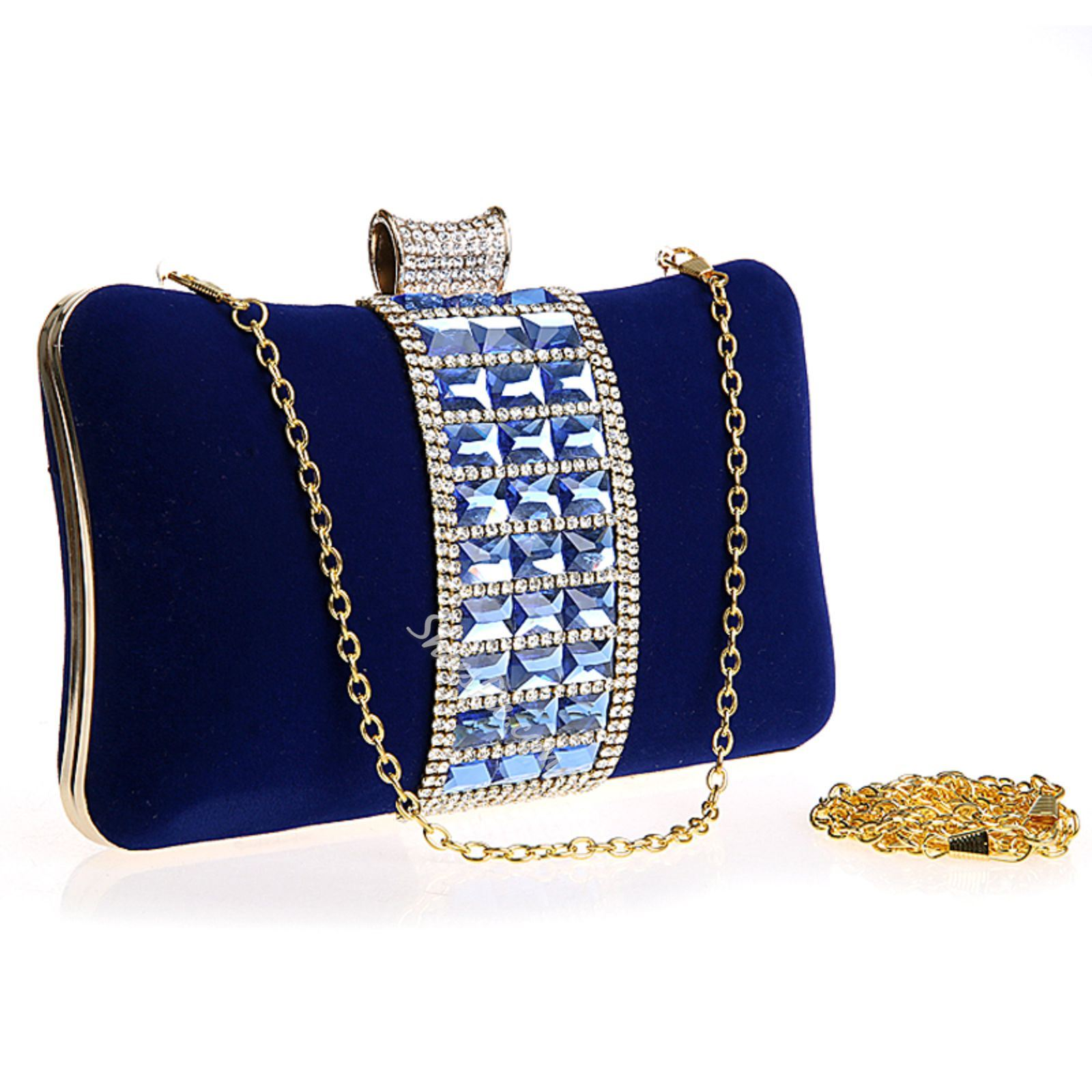 Shoespie Rhinestone Square Handbag