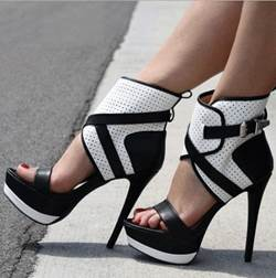 High Quality Contrast Color Platform Sandals