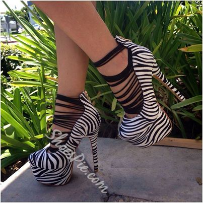 Perfect Zebra Print PU Dress Sandals