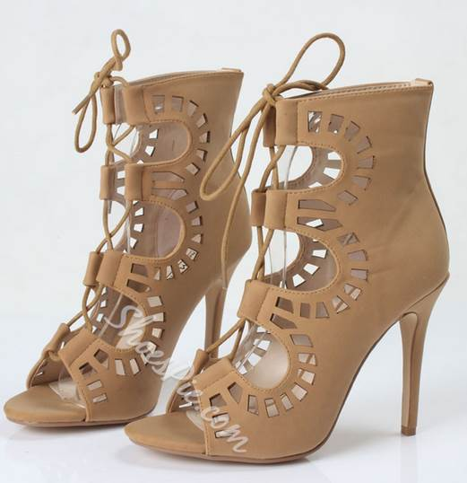 Ladylike Butterfly Lace-Up Dress Sandals