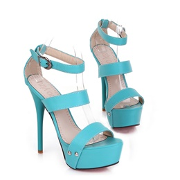 Simple Strap Stiletto Heel Platform Sandals