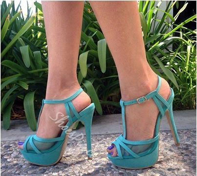 Glamorous Contrast Color PU Dress Sandals