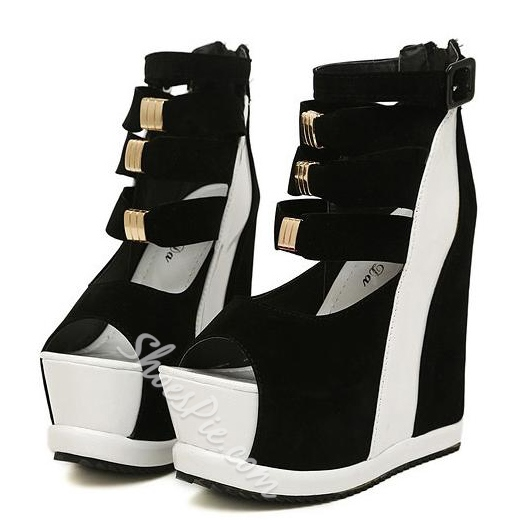 Shoespie Gorgeous Peep-Toe Wedge Women's Shoes