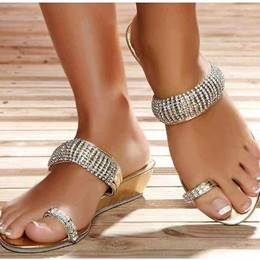 Amazing Contrast Color Coppy Leather Wedge Sandals