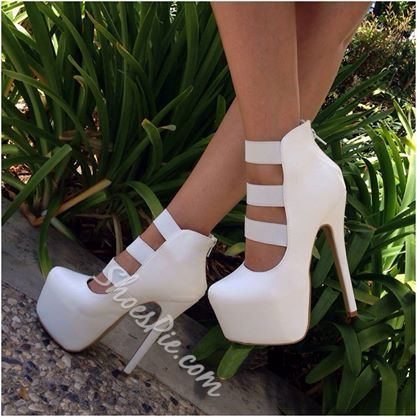 Pretty PU Cut-Outs Dress Sandals