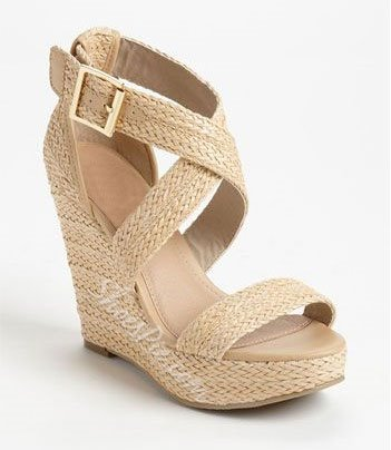 Casual Cut-Outs Ankle Strap Wedge Sandals