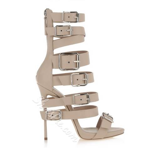 Absorbing Buckle Genuine Leather Dress Sandals