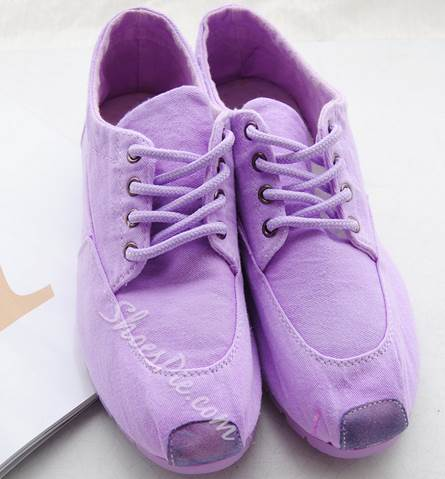 Comfortable Lace-Up Solid Color Canvas Shoes