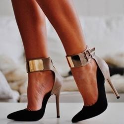 Leading lady Contrast Color Ankle Wrap Stiletto Heels