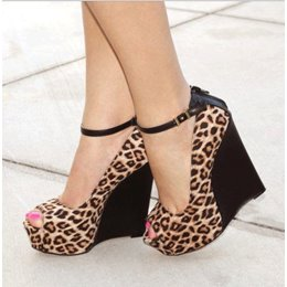 Shoespie Sexy Women's Leopard Grain Wedge Sandals