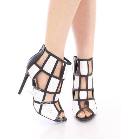 New Fashion Contrast Color Dress Sandals
