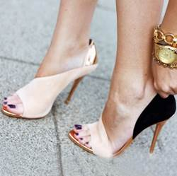 Gorgeous Contrast Color Stiletto Sandals