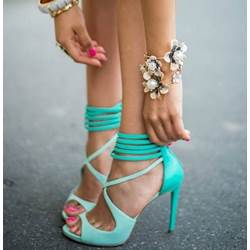 Attractive Beautiful Women Ankle Strap Dress Sandals