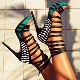 Fantastic Contrast Color Dress Sandals