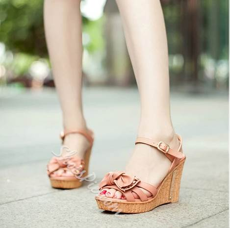 Shoespie Sweet Bowknot Wedge Sandals