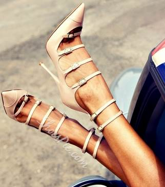 Modern Cut-Outs Pointed-toe Heels