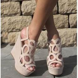 Sweet Cut-Outs Wedge Sandals