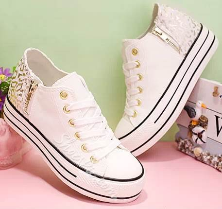 Lovely Girl Contrast Color Canvas Shoes