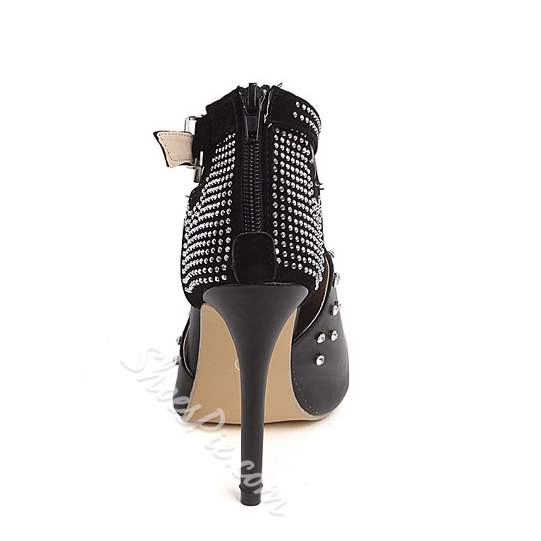 Shoespie Sexy High Stiletto Heel Rhinestone Boots