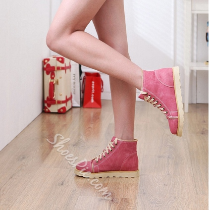 Comfortable Lace-Up Round Toe Sneaker