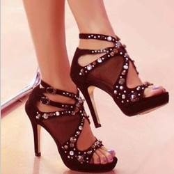 Fabulous Rhinestone Cut-Outs Dress Sandals