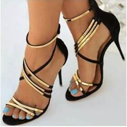 Gorgeous Cross Straps Dress Sandals
