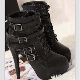 Amazing Buckles Lace-Up Ankle Boots
