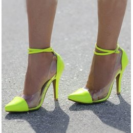 Vogue Contrast Color Stiletto Heels