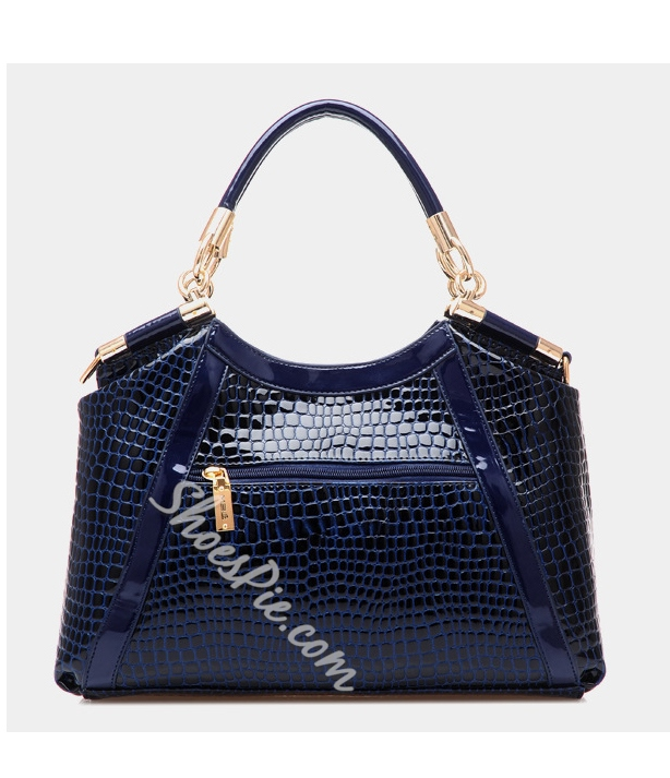 Shoespie Dual Purpose Alligator Pattern PU Women Tote Bag