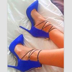 Fashion Lace-Up Zipper Point-Toe Stiletto Heels