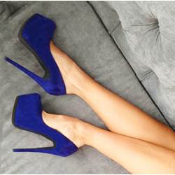 Noble Blue Platform Heels