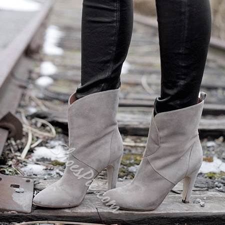 Concise Point Toe Stiletto Heels Boots