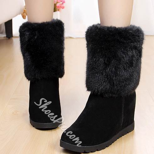 New Fashion Snow Boots with Inside Heels
