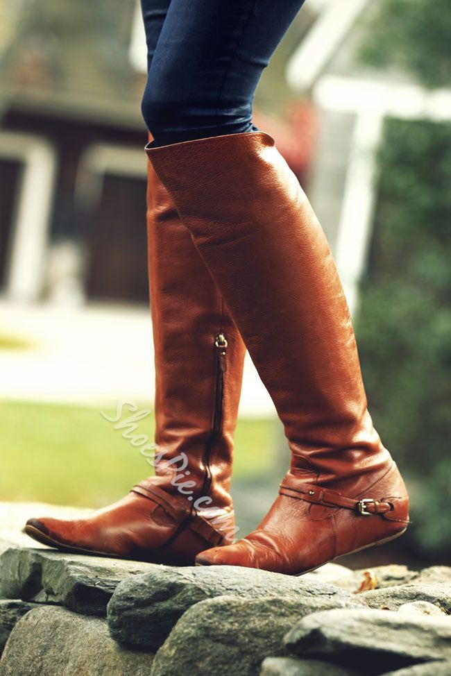 Newest OL Style Flat Knee High Boots