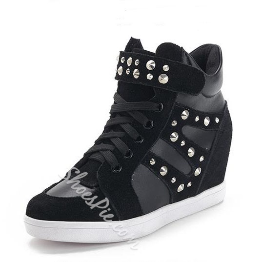 Comfortable Suede Rivet Buckle Sneaker