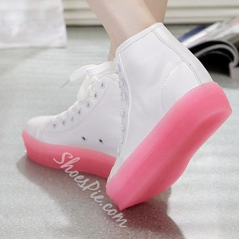Luminous Lace-up Sneaker with High Platform