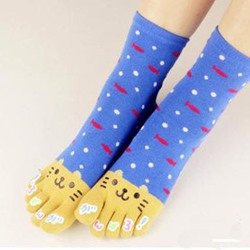 Cute Cat Print Carton Socks