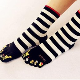 Lovely Stripe Carton Cotton Socks