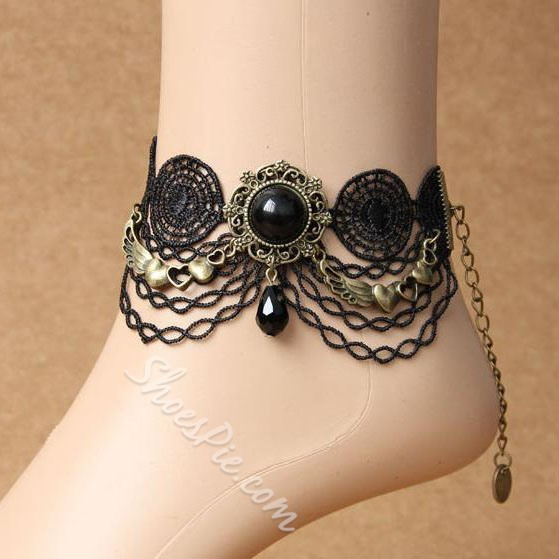 Sexy Lace EXO Gothic Anklet