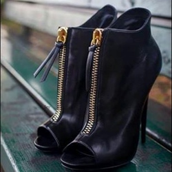 Most Popular Peep-toe Zipper Ankle Boots