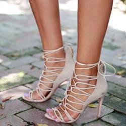 Chic Lace-Up Stiletto Dress Sandals