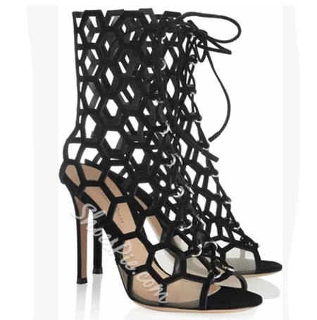 Sexy Lady Cut-Outs Lace-Up Dress Sandals