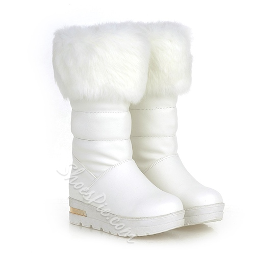 Graceful Mid-calf Snow Boots