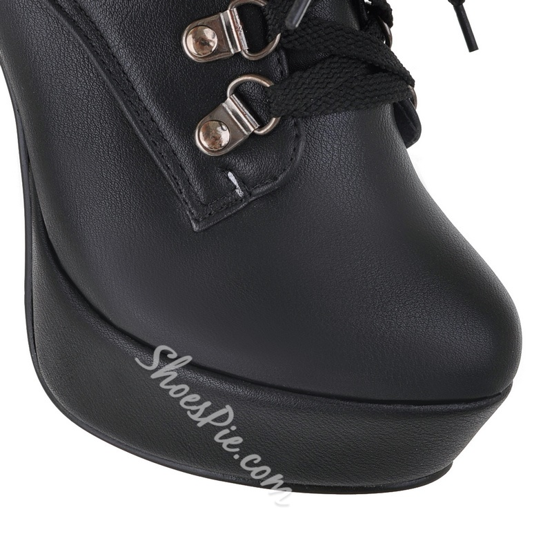 Eurameriacn Style Lace-up Chunky Heel Ankle Boots