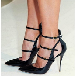 Good-looking Ankle Strap Pointed-toe Heels