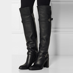 Leather Thigh High Boots Uk - Shoespie.com