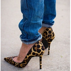 Sexy Leopard Grain Pointed-toe Heels