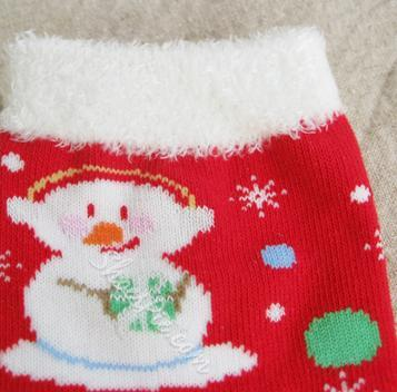Beautiful Snowman Print Feather-edge Christmas Socks